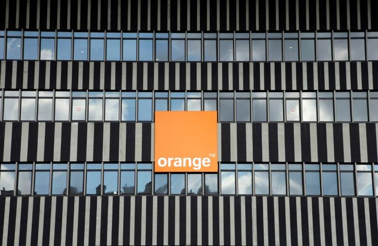 The logo of French telecom operator Orange is seen on the facade of the Velodrome stadium in Marseille, France, September 30, 2016.  REUTERS/Jean-Paul Pelissier