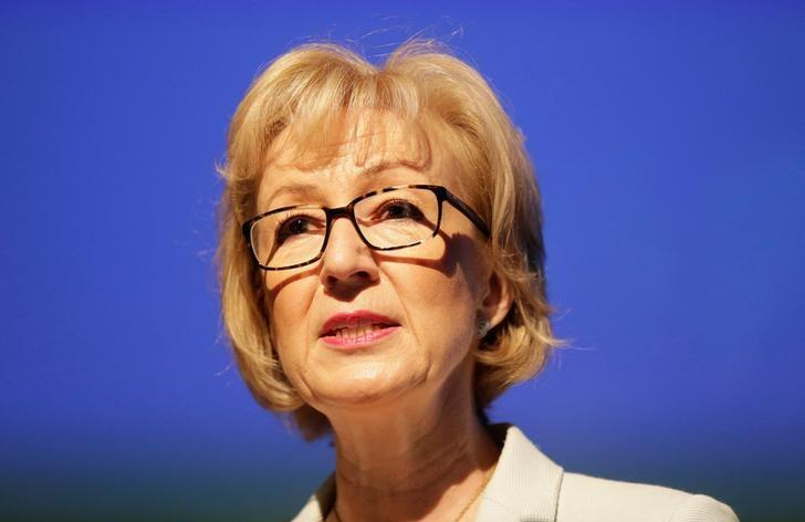 Andrea Leadsom speaks at a news conference in central London, Britain July 7, 2016. REUTERS/Paul Hackett/Files