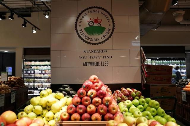 Produce is pictured inside a Whole Foods Market in the Manhattan borough of New York City, New York, U.S. June 16, 2017. REUTERS/Carlo Allegri