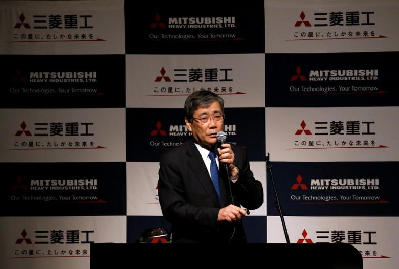 FILE PHOTO: Mitsubishi Heavy Industries President and Chief Executive Shunichi Miyanaga attends a news conference in Tokyo, Japan May 9, 2016. REUTERS/Issei Kato