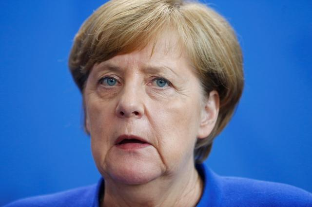 German Chancellor Angela Merkel during a news conference at the Chancellery in Berlin, Germany, June 19, 2017. REUTERS/Hannibal Hanschke