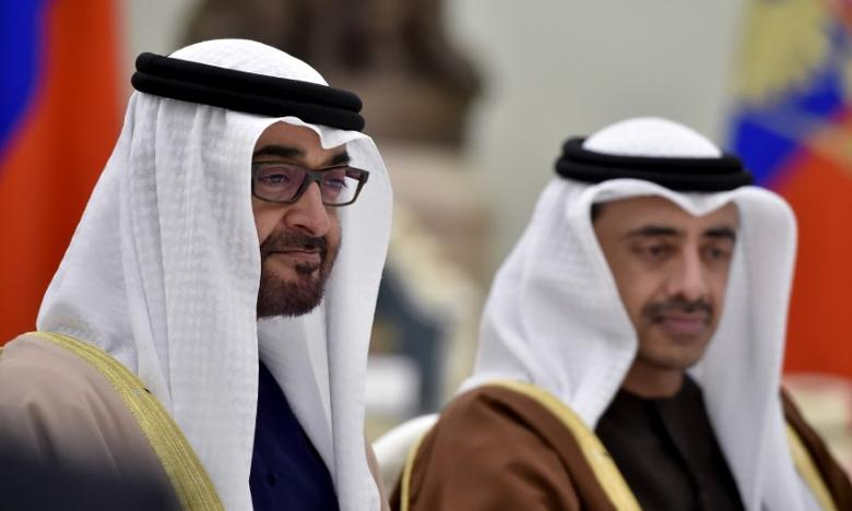 Sheikh Mohammed bin Zayed al-Nahyan (L), Crown Prince of Abu Dhabi and UAE's deputy commander-in-chief of the armed forces attends a meeting with Russian President Vladimir Putin at the Kremlin in Moscow, Russia, March 24, 2016. REUTERS/Alexander Nemenov/Pool/Files