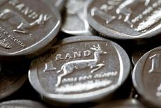 South African Rand coins are seen in this photo illustration taken September 9, 2015. REUTERS/Mike Hutchings/Illustration/File Photo