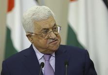 رئيس السلطة الوطنية الفلسطينية محمود عباس في سوتشي بروسيا يوم 11 مايو ايار 2017. صورة لرويترز من ممثل لوكالات الأنباء