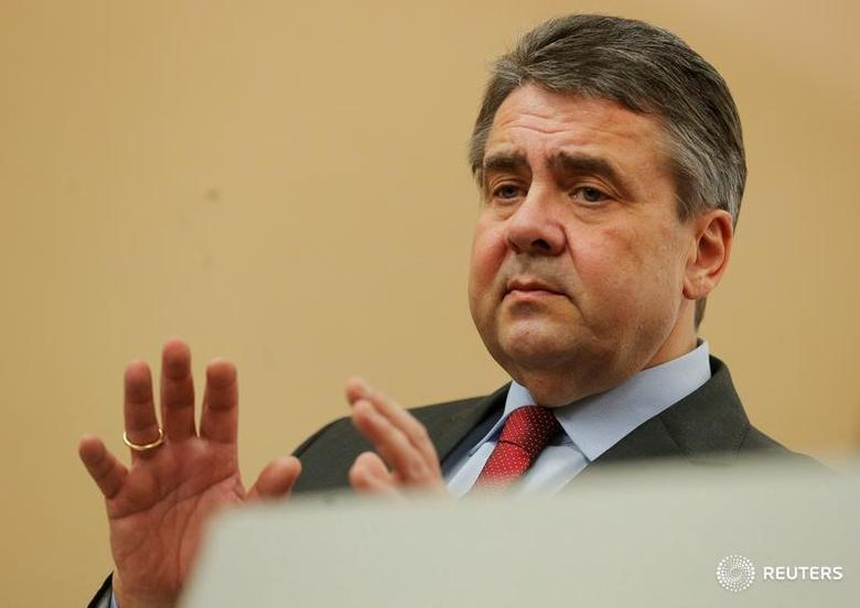 FILE PHOTO: Germany's Foreign Minister Sigmar Gabriel addresses a news conference in Vienna, Austria February 27, 2017. REUTERS/Heinz-Peter Bader/File Photo - RTS16IBB