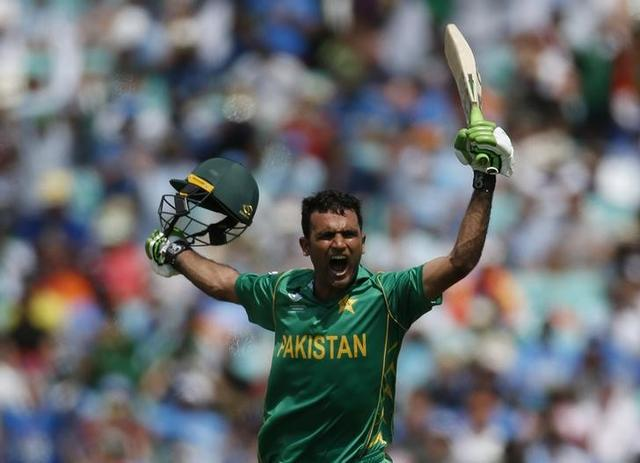 Britain Cricket - Pakistan v India - 2017 ICC Champions Trophy Final - The Oval - June 18, 2017 Pakistan's Fakhar Zaman celebrates his century Action Images via Reuters / Paul Childs Livepic