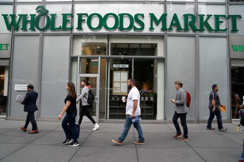 FILE PHOTO: A Whole Foods Market is pictured in the Manhattan borough of New York City, New York, U.S. June 16, 2017. REUTERS/Carlo Allegri/File Photo