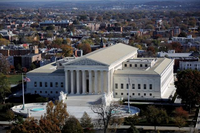 FILE PHOTO -  A general view of the U.S. Supreme Court building in Washington, U.S., November 15, 2016. REUTERS/Carlos Barria/File Photo