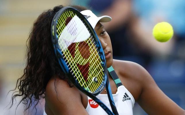 6月21日、女子テニスのエイゴン・クラシック、シングルス2回戦で大坂なおみ(写真)はルーシー・サファロバに2─6、4─6で敗れた(2017年 ロイター)