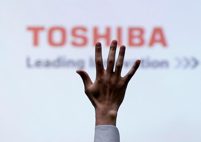 6月28日、東芝の定時株主総会が午前10時から千葉市で始まった。写真は都内で23日撮影(2017年 ロイター/Issei Kato)