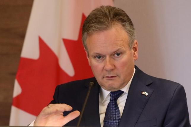 6月28日、カナダ中銀のポロズ総裁は、15年に実施した利下げがその役割を成し遂げたとし、余剰生産能力が使い果たされる中、カナダ中銀は選択肢を検討する必要があるとの見解を示した。5月撮影(2017年 ロイター/Edgard Garrido)