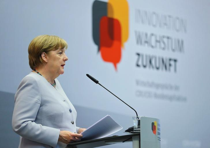 German Chancellor Angela Merkel attends a party meeting in Berlin, Germany, June 28, 2017. REUTERS/Hannibal Hanschke