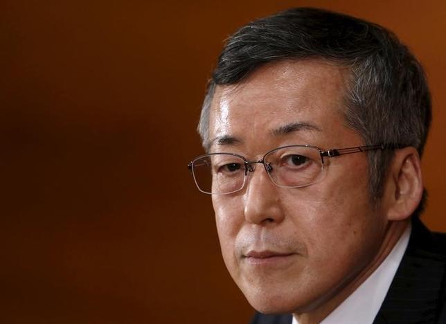 6月29日、日銀の原田泰審議委員は、2%の物価安定目標の達成が見えれば、上場投資信託(ETF)の買い入れの減額や停止、あるいは徐々に売却していくことはあり得る、と語った。写真は2015年3月撮影(2017年 ロイター/Yuya Shino)
