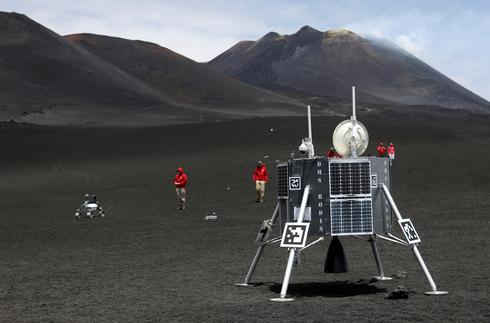 Lunar robots put to test on Mount Etna
