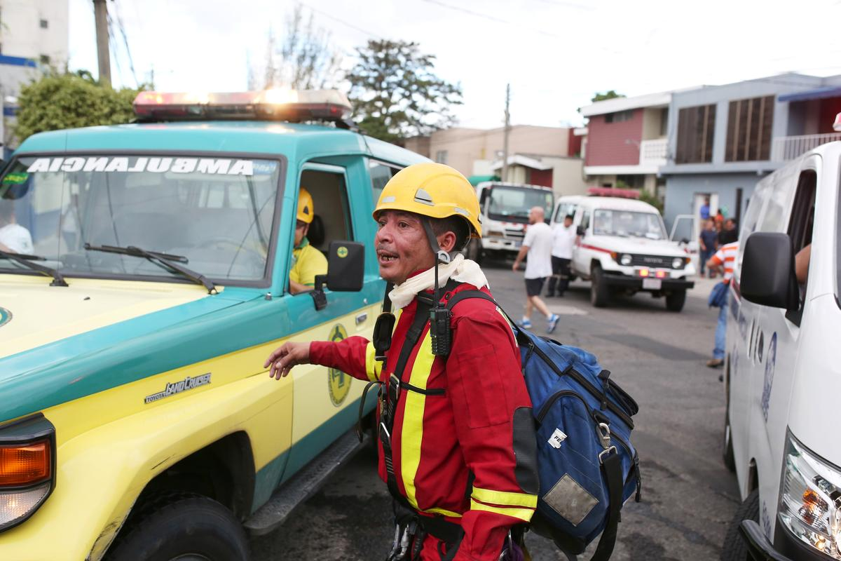 At least one killed in blaze at El Salvador ministry