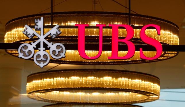 7月10日、スイスの金融大手UBSは、英国のEU離脱に備えてロンドンのスタッフをフランクフルトかマドリード、またはアムステルダムに移転することを検討している。3月撮影(2017年 ロイター/Arnd Wiegmann)