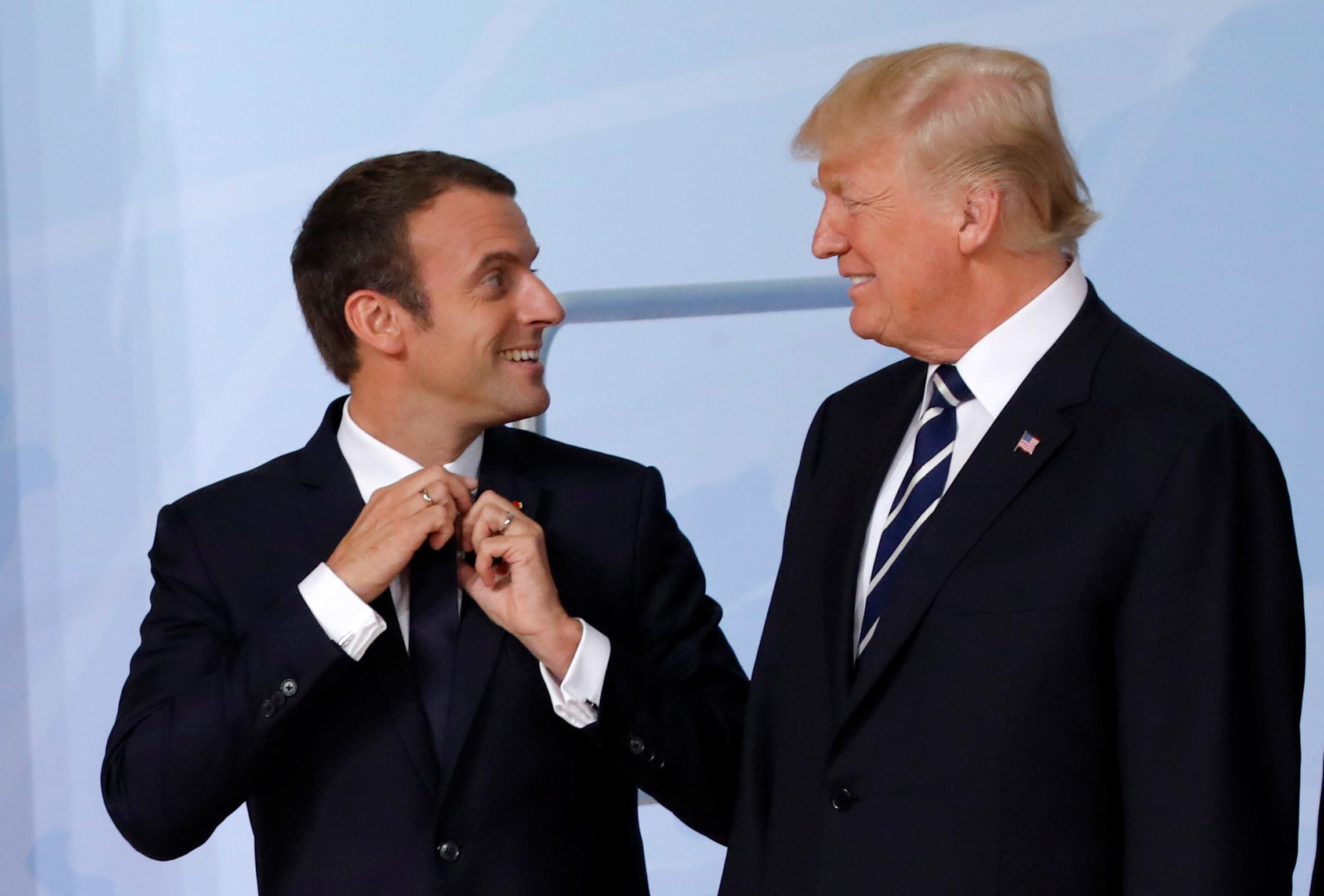 Trump, France's Macron to discuss Syria and terrorism during Paris visit