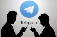 شعار تطبيق تليجرام في صورة توضيحية من أرشيف رويترز