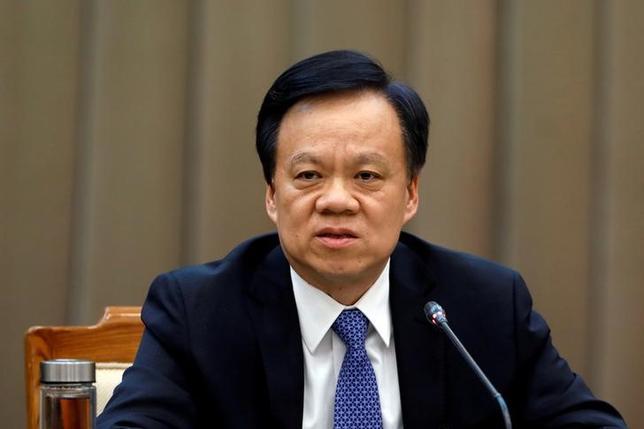 7月15日、中国共産党は、重慶市トップの孫政才・市党委員会書記の後任に、習近平国家主席の側近として知られる陳敏爾・貴州省党委書記(写真)を起用する人事を決めた。写真は北京で3月撮影(2017年 ロイター/Tyrone Siu)