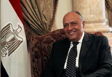 وزير الخارجية المصري سامح شكري خلال اجتماع بالقاهرة يوم 29 مايو آيار 2017. تصوير: عمرو عبد الله دلش - رويترز.