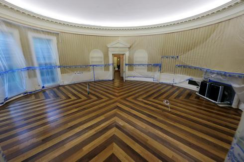 White House under renovation