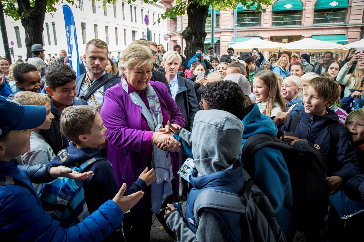 Norway's Merkel, Erna Solberg hopes to beat history in re-election bid
