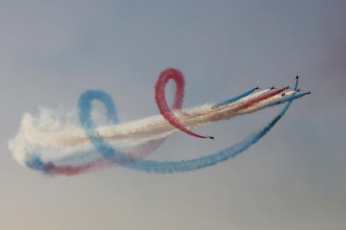 Air show over Athens