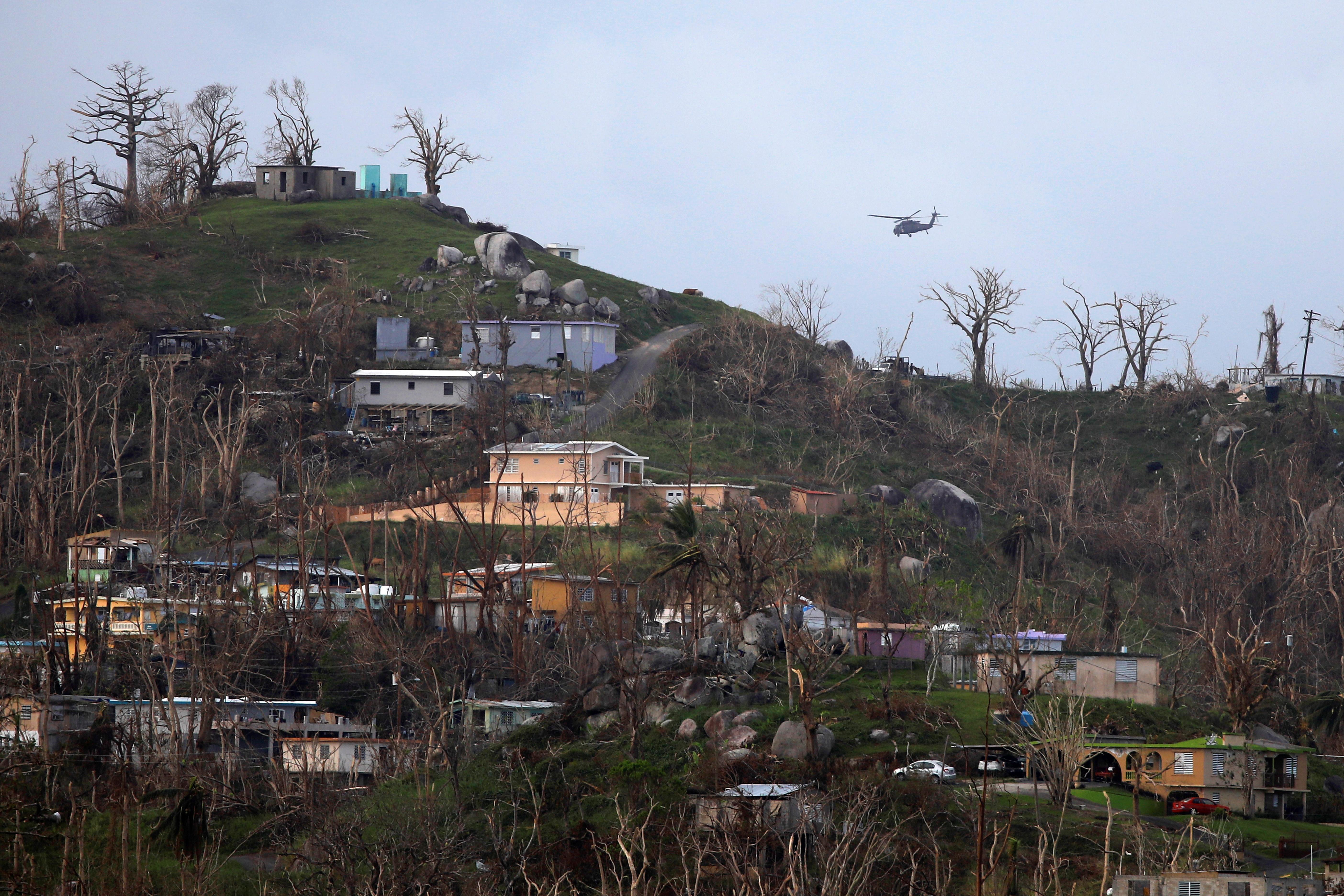 临时,露天警察局显示波多黎各的重建挑战