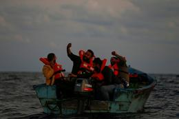 Searching for migrants on the Mediterranean
