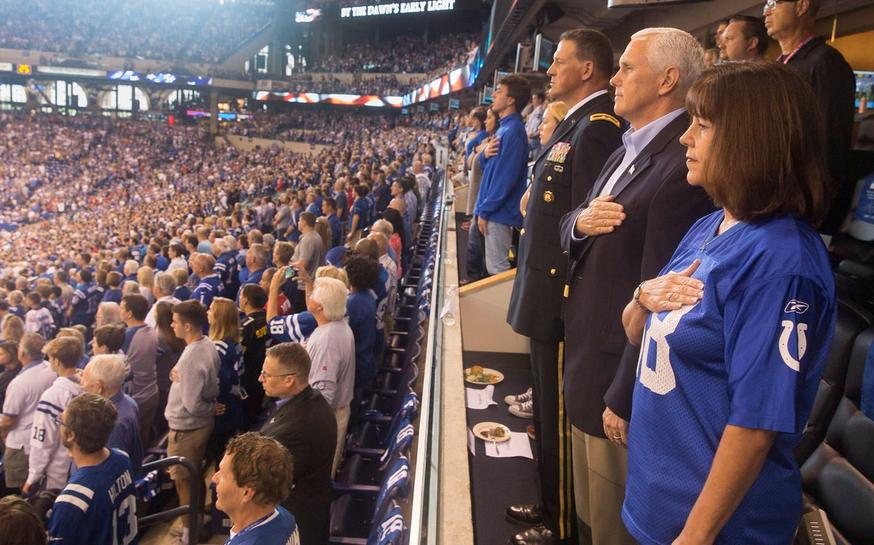 Pence exits NFL game after players kneel during anthem