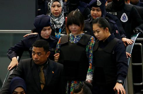 Kim Jong Nam murder suspects return to scene of crime