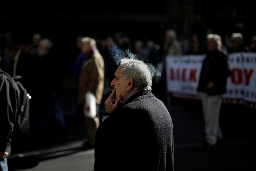 Greek pensioners protest against government that 'took everything'