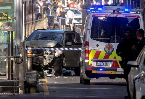 Car hits pedestrians in Melbourne
