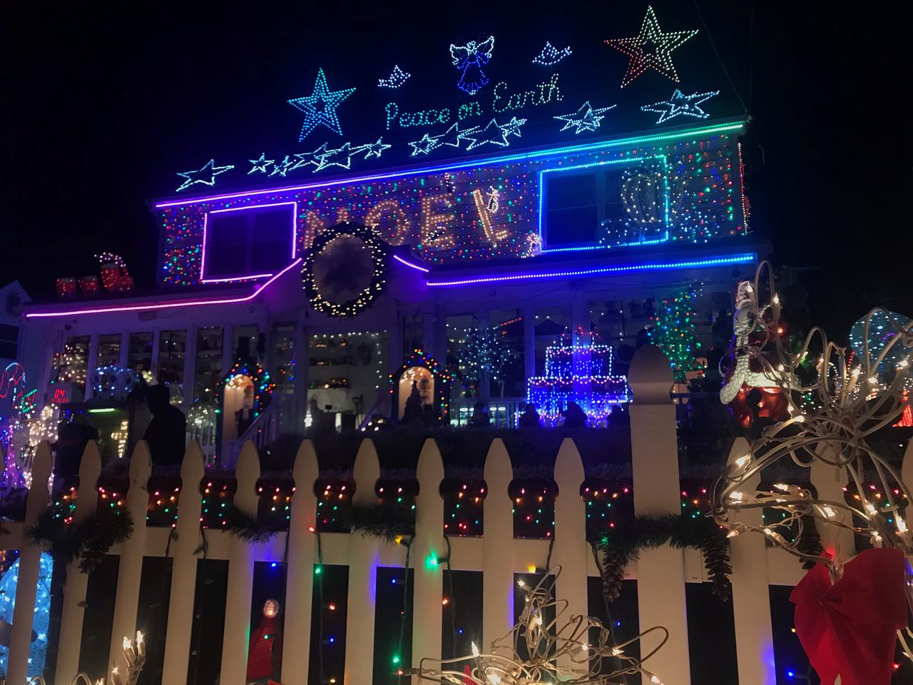 christmas lights decorations are lit at the halliwell family home in roseville terrace in fairfield connecticut us on december 20 2017 - Christmas Lights And Decorations