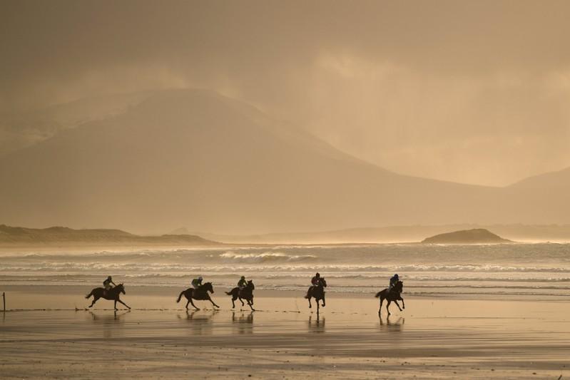 Image result for Irish coastal village hosts annual beach horse races