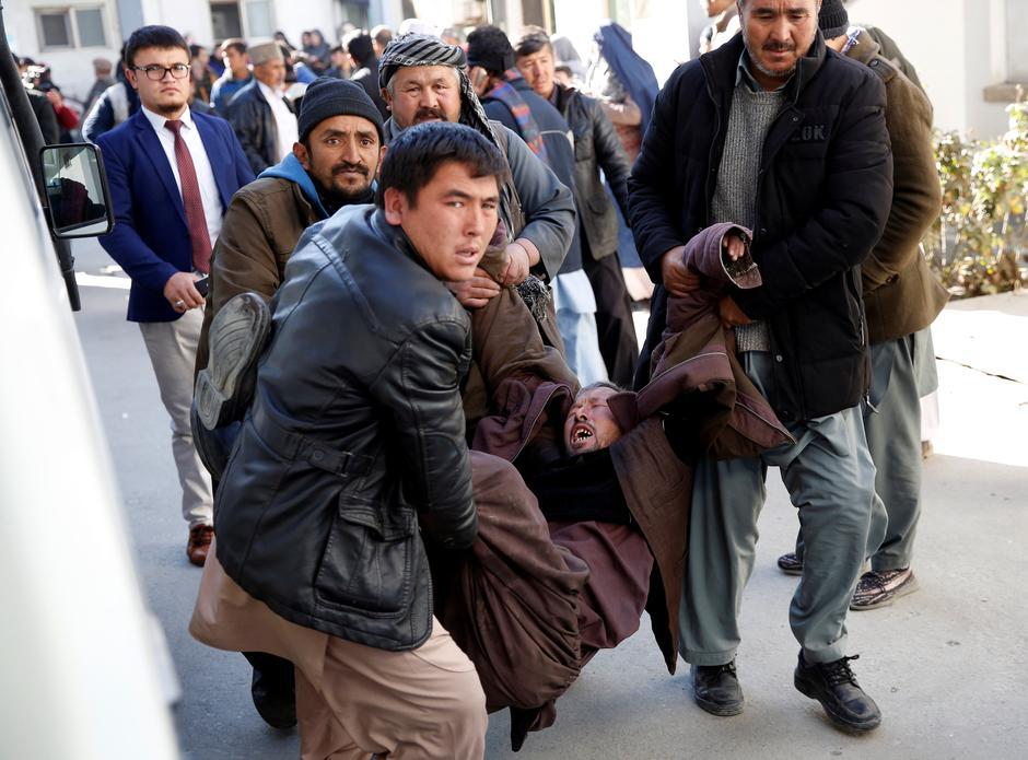 Hasil gambar untuk Suicide bombers kill dozens at Shi'ite center in Afghan capital