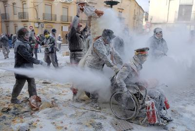Flour war in Spain