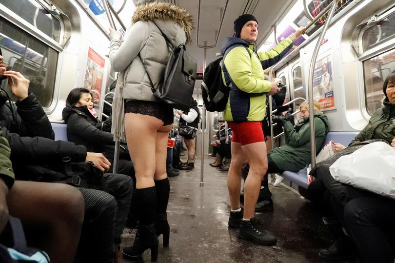No Pants Subway Ride Reuters Com