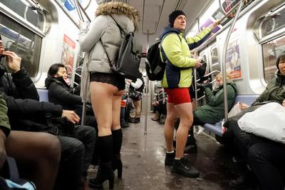No Pants Subway Ride