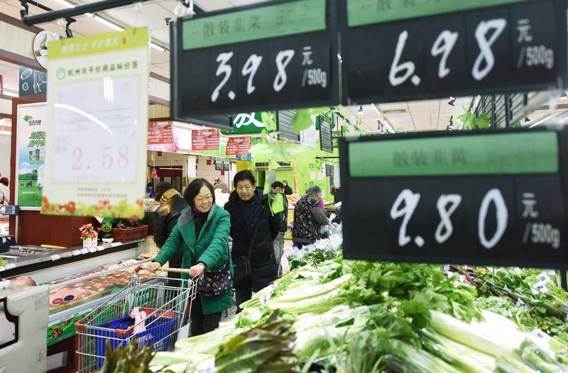 4fd7c4e072 北京 10日 ロイター] - 中国国家統計局が10日発表した2017年12月の消費者物価指数(CPI)は前年比1.8%上昇となり、前月(1.7%上昇)から伸びが  ...