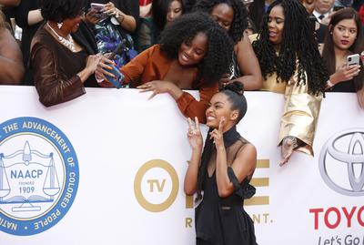 NAACP Image Awards red carpet