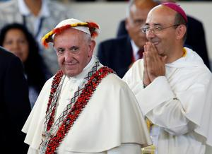 Pope visits Chile and Peru