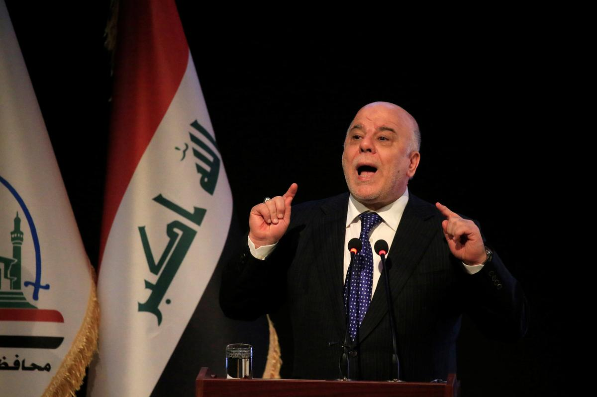 Iraqi PM Abadi meets Kurdistan region PM Barzani: Kurdish official
