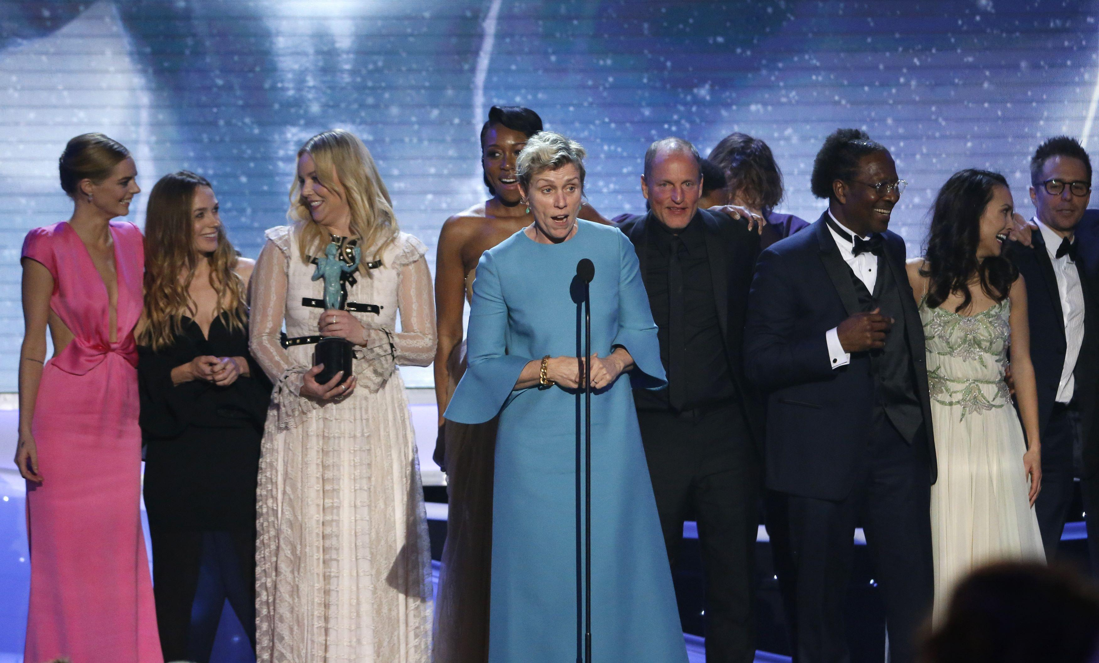 Three Billboards\' biggest winner at female-flavored SAG awards ...