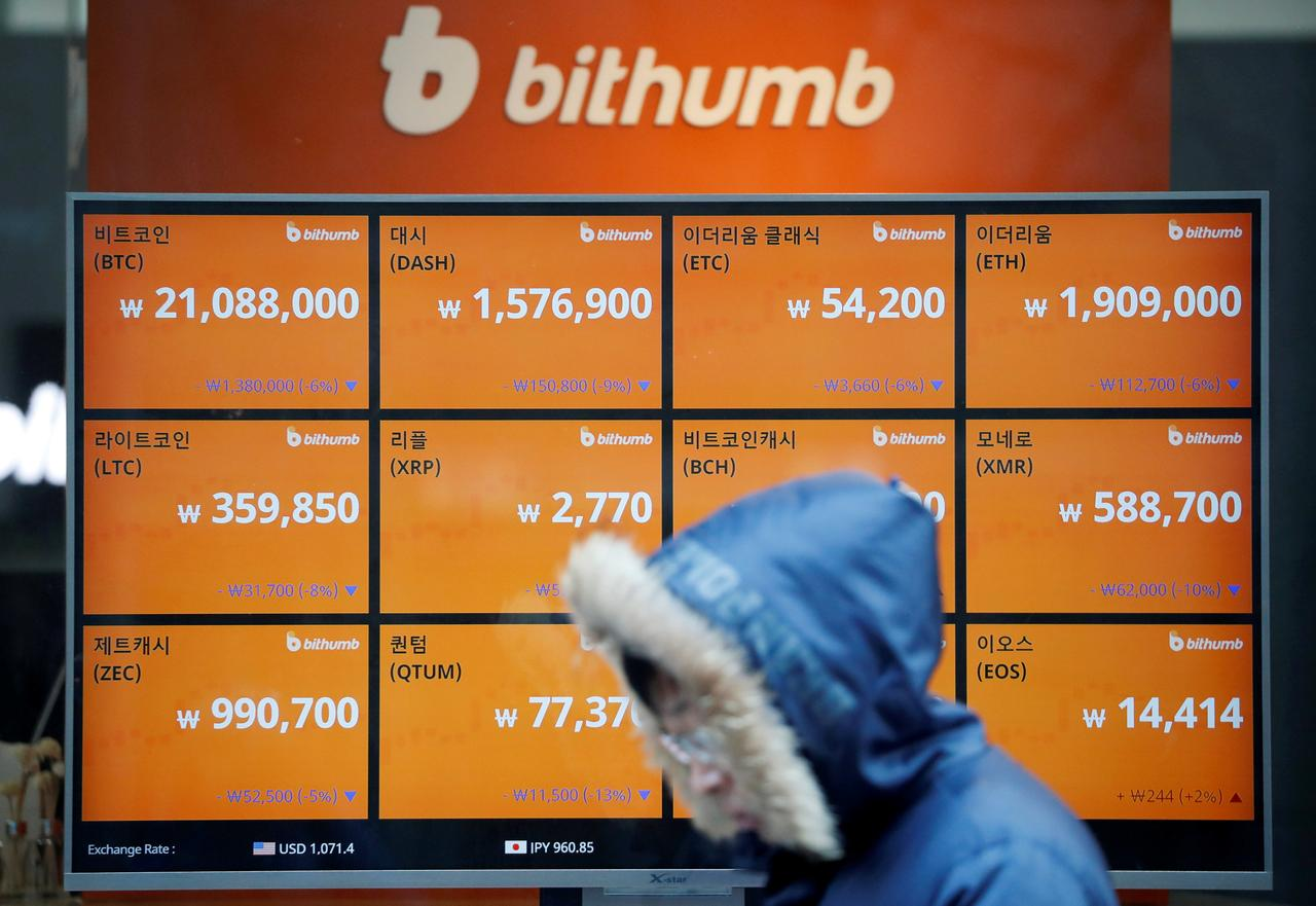 South Korea to ban cryptocurrency traders from using anonymous bank
