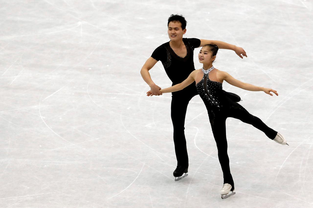 """Résultat de recherche d'images pour """"North Korean skaters say they'll treat Olympics just like any other competition"""""""