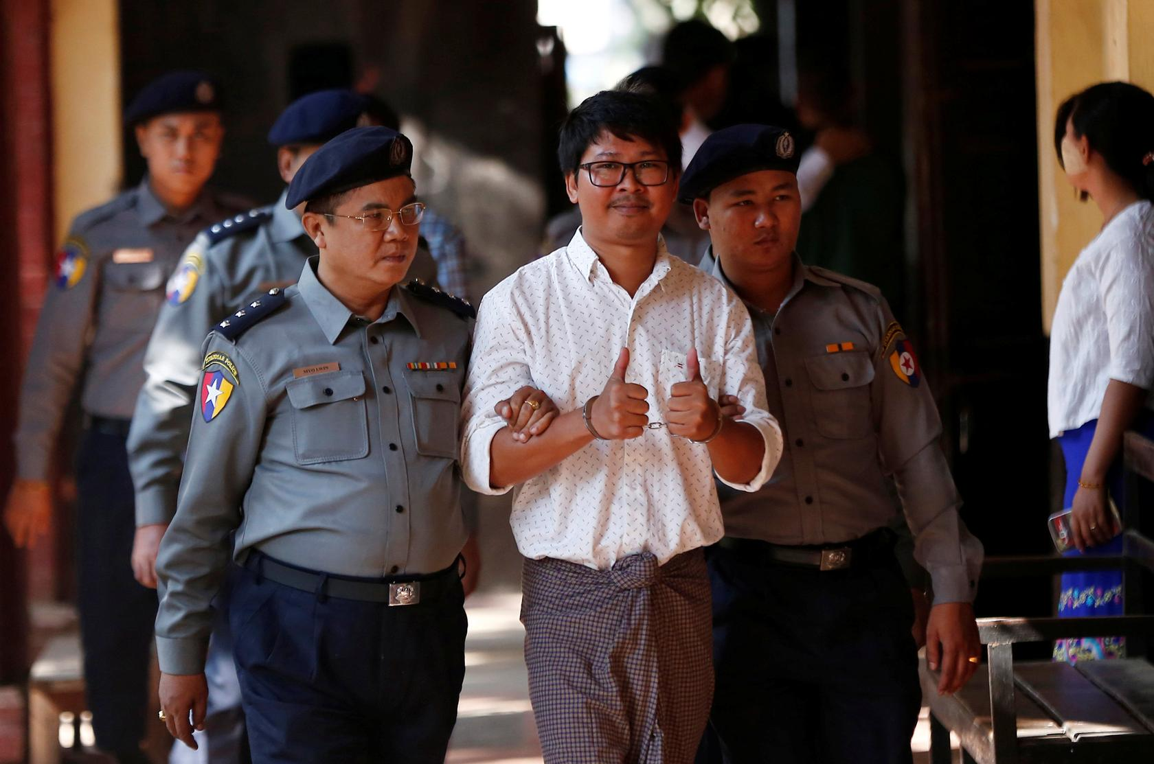 a6c91b2f400a Myanmar policeman who arrested Reuters reporters tells court he burned his  notes