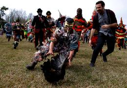 Rural Mardi Gras celebrations in Louisiana