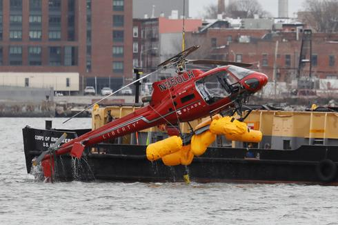 Helicopter crashes in New York's East River