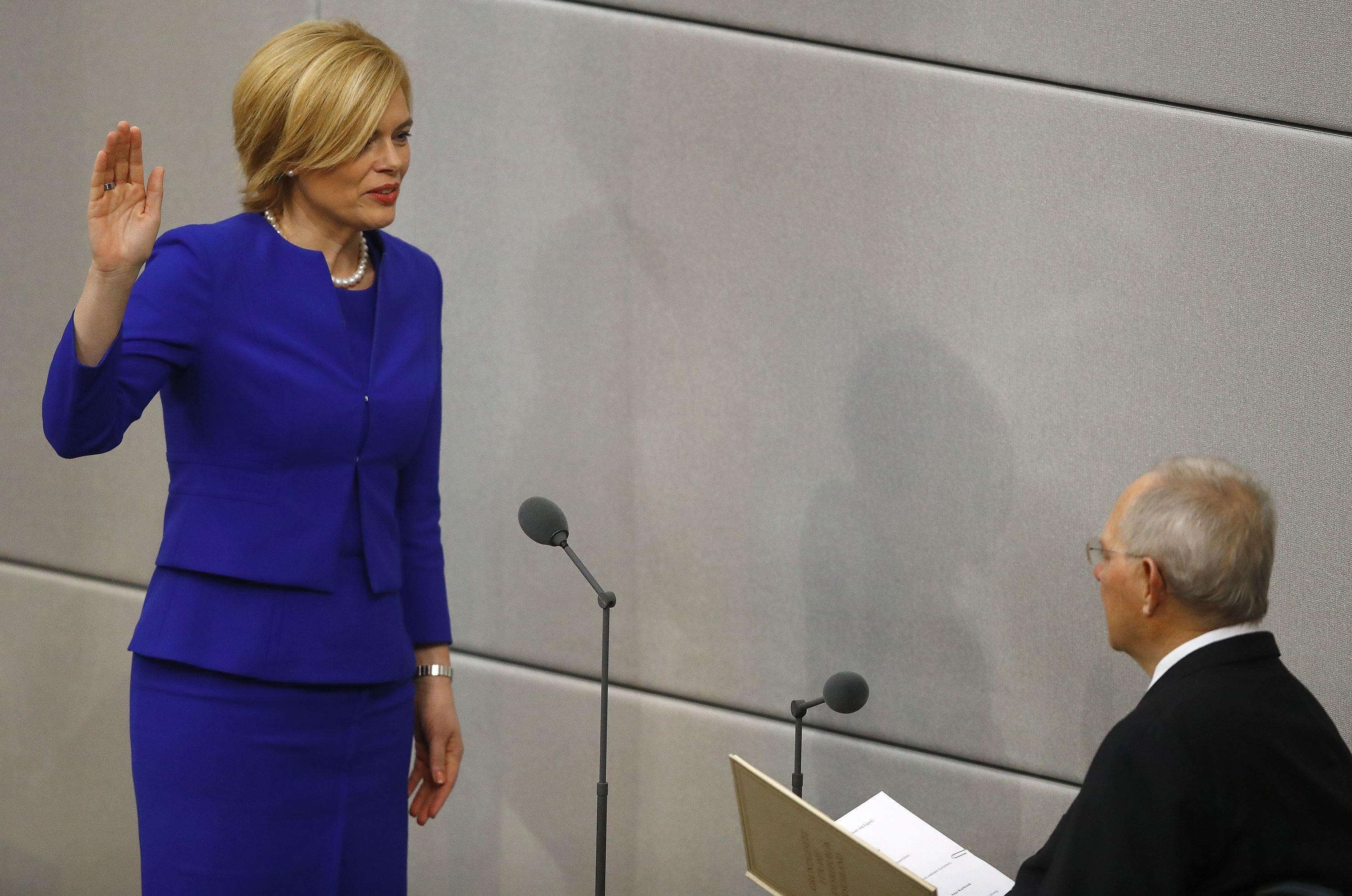 Julia Kloeckner takes over as German farm minister in new government